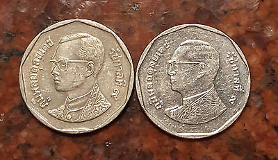 Lot Of (2) India 5 Baht Coins - #1137