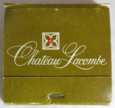 Vintage Chateau Lacombe Cp Hotel Alberta Matchbook                  (Inv14565)