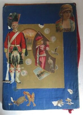 1800's ADVERTISING TRADE CARD CUT OUT SCRAPBOOK                   (INV14552)