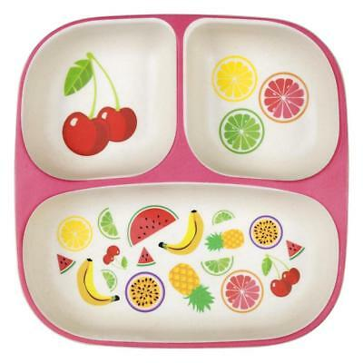 NEW Sunnylife Eco Kids Divided Plate Fruit Salad