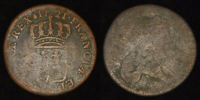 FRANCE - 1721 1/2 Sol - Louis XV - John Law Colonial
