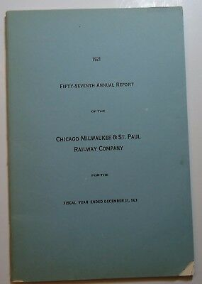 Milwaukee Road Railroad 1921 Annual Report