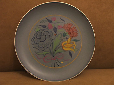 50's VINTAGE POOLE POTTERY ELABORATE HAND PAINTED PLATE DISH EXCELLENT CONDITION