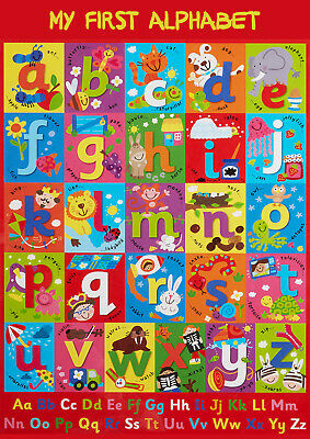 Glossy Alphabet Abc Educational Wall Chart Poster Print A4 A3 Kids Children