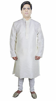 Mens Christmas Gifts Indian Kurta Salwar Set Party Wear Embroidered Silk