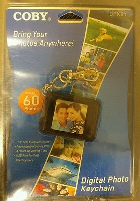 Coby Digital Photo Keychain Black DP151 holds up to 60 photos