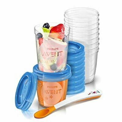 Phillips Avent Toddler Food Stoarge Set 6m+ 20 Reusable Cups 1 2 3 6 12 Packs