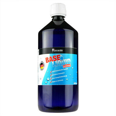 Basis Base Liquid 9,95€/1L Riccardo 1000ml Flasche 0mg E-Zigarette Basen eLiquid