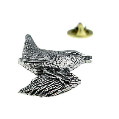 Wren Bird English Pewter Lapel Pin Badge XTSPBB06