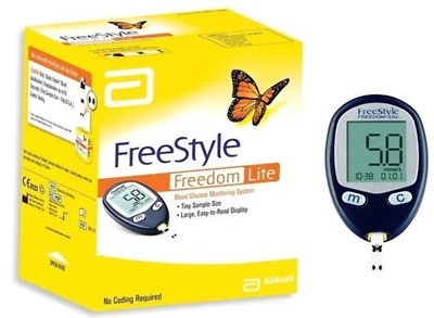 Abbott - Freestyle Freedom Lite - Blood Glucose Monitoring System - Brand New