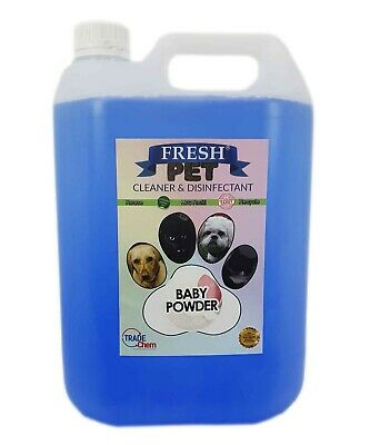 FRESH PET eco-Refill Concentrate Equiv 5 X 25L Disinfectant Cleaner BABY POWDER