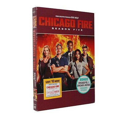 Chicago Fire Season 5 ( DVD, 2017 , 5 -Disc Set ) Brand New Sealed