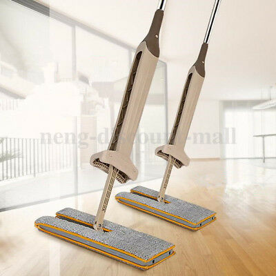 Lazy Hands-Free Washing Double-Side Flat Mop Home Cleaning Tool
