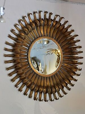 Extra-large vintage sunburst mirror