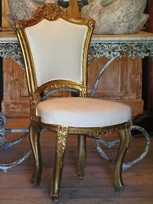 Pair of Louis XV style upholstered chairs