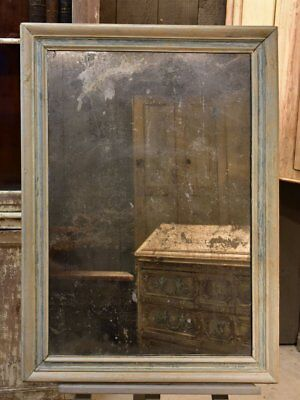 Rustic French rectangular mirror