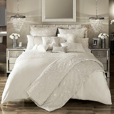 Kylie Minogue Bedding DARCEY Oyster / Ivory Duvet / Quilt Cover,Cushion or Throw