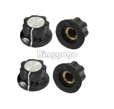 5PCS Adjustable 16mm Top 6mm Shaft Insert Turn Dia Potentiometer Rotary Knobs
