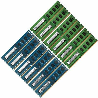 Memory Ram Desktop PC DDR3 PC3 8500 1066 MHz 240 Pin Non ECC Unbuffered 2 x Lot