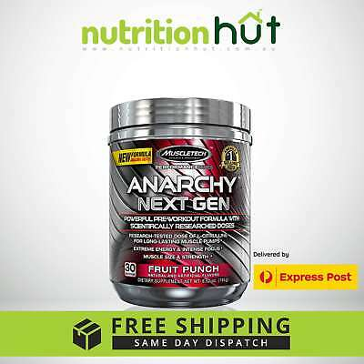 CLEARANCE - Recently Expired MuscleTech Anarchy Next Gen 30 Serving PRE WORKOUT