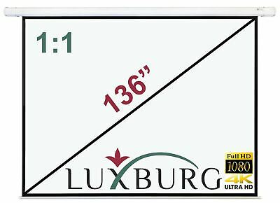 "Luxburg® 136"" 244x244 cm Full HD 3D Manual Pull Down Projector Projection Screen"