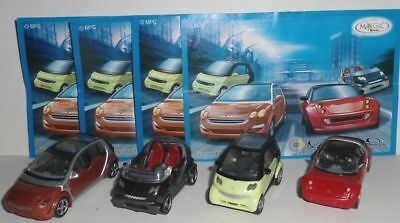 Kinder Ferrero Surprise Smart Car Figures Set Collectibles Cake Toppers + Papers