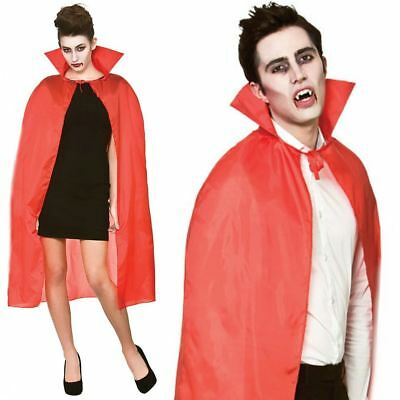 Adult New Red Vampire Dracula Cape Halloween Fancy Dress Costume Accessory