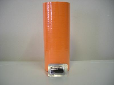 "34,000 Labels ""fl Orange"" For Monarch 1110  32 Rolls - 2 Sleeves"