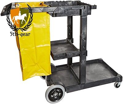 Impact 6850 Janitor's Cart with 25-Gallon Yellow Vinyl Bag, Polyethylene,...