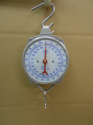 NEW 220LBS HANG UP SPRING SCALE DIAL WEIGHT Game Scale FOOD
