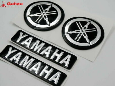Tank Fairing Fender Emblems Decals for Yamaha 7cm R1 R6 Motors Tuning Fork 45mm