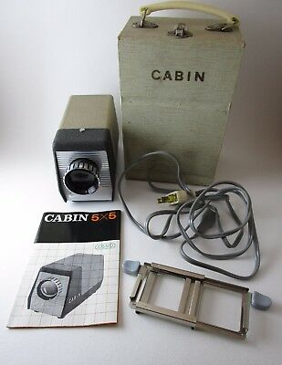 Cabin 5x5 35mm Slide Projector Vintage Complete with Carrying Case Works
