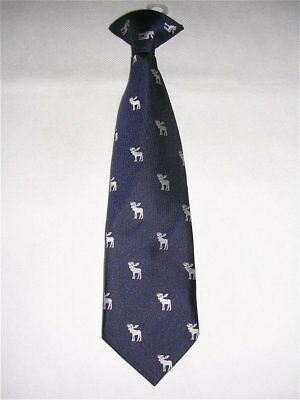 Blue Clip On Necktie White Elk/Moose Cherokee Toddler Boys 2T - 5T NEW w/TAG NWT