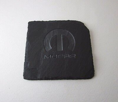 MOPAR Engraved Canadian Slate Coaster 4 Inch by 3 3/4 Inch