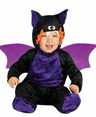 BABY BAT INFANTS CUTE HALLOWEEN COSTUME Toddlers Fancy Dress Outfit 85535