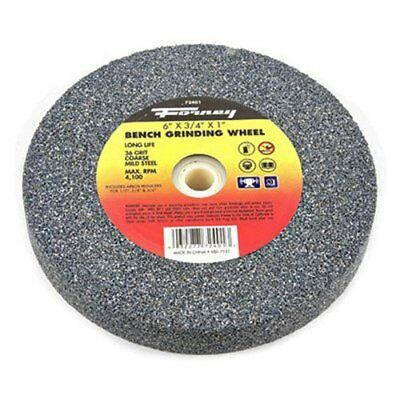 Forney 72400 Bench Grinding Wheel, Vitrified with 1-Inch Arbor, 60-Grit, 6-Inch-