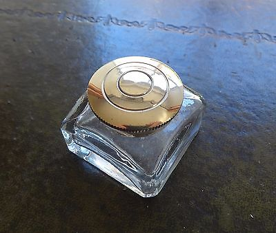 An antique style ink bottle, inkwell for writing slopes/lapdesks. 45mm sq.
