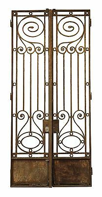 19th Century Wrought Iron Town House Gates or Doors