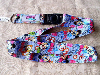 Disney Parks * NERDS * Pin Trading Lanyard w Detachable Section