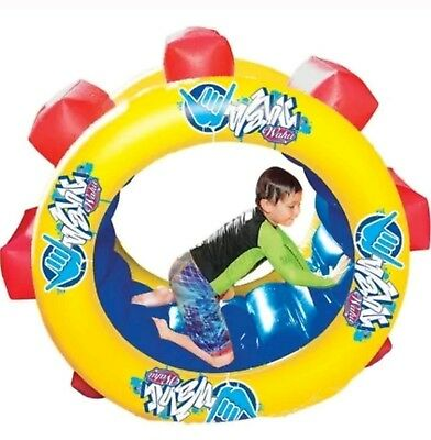 Wahu Paddle Wheel, Inflatable Pool Toy, Lounger, Float Ride On Water Game BMA654
