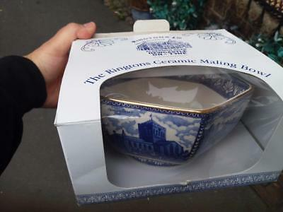 Ade Ringringtons Wade Boxed Blue And White Six Sided Maling Bowl Abbeys Castles
