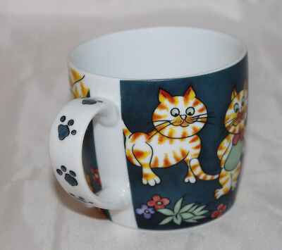 Cats Paw Prints Coffee Tea Cup Nantucket Home Orange Tiger Tabby Kitten