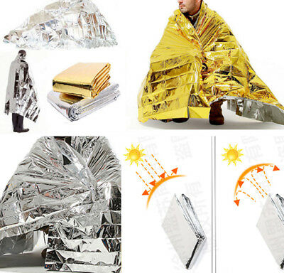 Premium FOIL Thermal Emergency BLANKET First Aid Waterproof Camping Survival UK