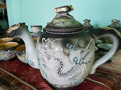 vintage dragon tea/coffee set of 28th Hand Painted in Japan. Very good condition