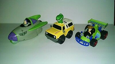 Fisher Price Shake N Go Disney Toy Story Buzz Rocket Woody & Rex Pizza Delivery