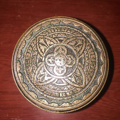 Antique Collectible  4fold Solid Bronze Entry DoorKnob Corbin 1880s  #A