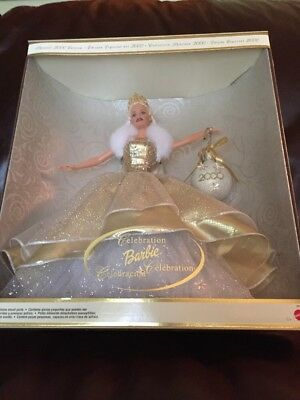 """Special Edition 2000 Holidays Celebration New In Box 12"""" Barbie By Mattel"""