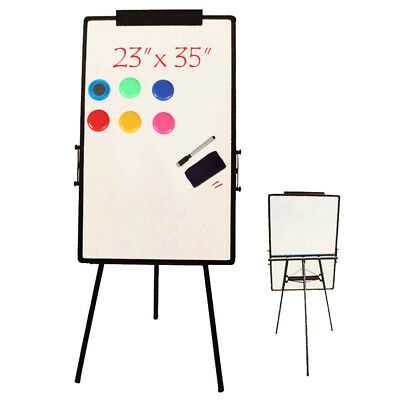 """Flash 23""""x35"""" Magnetic White Board Dry Erase Drawing w/ Board Easel Stand Office"""