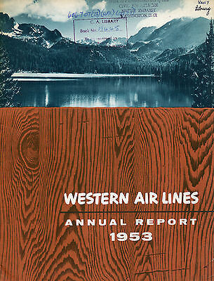 Western Airlines 1953 Annual Report