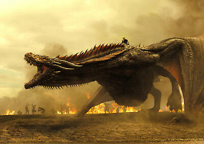 Game Of Thrones Daenerys Targaryen  Mother Of Dragons Poster Print A4 A3